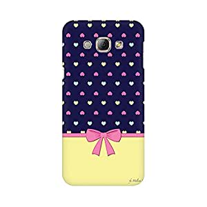 Mobicture Bow Cute Designer Printed Hard Case Cover - [Hard Poly Carbonate] [Slim-fit] [Shock-Proof] Back Cover for Samsung A8