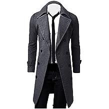 ♚Btruely Herren Abrigo Primavera/Otoño/Invierno Casual Solid Slim Bomber Jacket Zipper Outwear