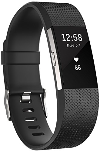 Fitbit Charge 2 cardiofrequenzimetro e activity tracker, colore Nero