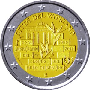 Piece 2 Euros Vatican - Pièce de 2 euros que le vatican
