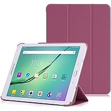 MoKo Samsung Galaxy Tab S2 9.7 Funda - Ultra Slim Lightweight Función de Soporte Protectora Plegable Smart Cover para Samsung Galaxy Tab S2 9.7 (SM-T815) Android 5.0 2015 Version, VIOLETA