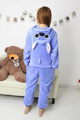 Gaorui Damen Mädchen Tier Kostüm Schlafanzug Pyjama Schlafstrampler Party Feier Kostüme Blau