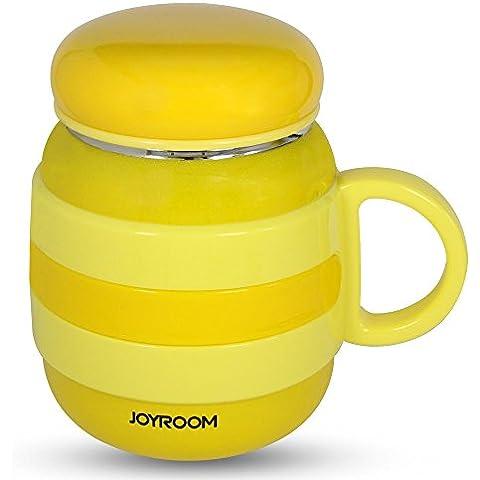 JOYROOM CY135 Sellado Taza Termo para Sólido 360 ML Color Amarillo