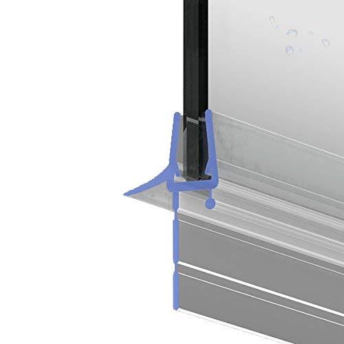 80cm M24 -- Ersatzdichtung für 5mm/6mm/ 7mm/ 8mm Glasdicke Wasserabweiser Duschdichtung Schwallschutz Duschkabine - Untere Tür Dichtung