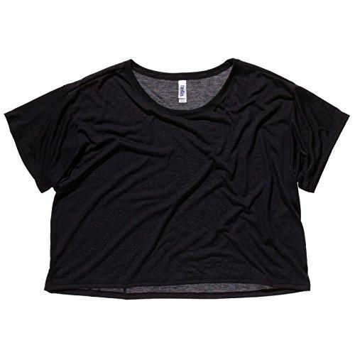 Bella Damen T-Shirt Boxy Leinwand 8881 Schwarz - Schwarz