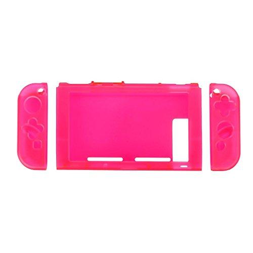 Für Nintendo Schalter, iusun kratzfest 3-teiliges Design Schutzhülle Cover Transparent (rot