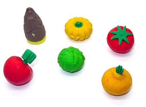 Heißklebestifte 3D Gemüse lernen Radiergummi Kürbis Tomaten Mais Bohnen aubergine Carrot Banana...