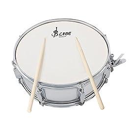 ammoon Rullante Professionale Testa 14 Pollici con la bacchetta del tamburo tamburo chiave cinghia per banda di studenti