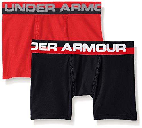 Under Armour Jungen O-Series 2 Pack Sportswear-Unterhosen, Red, - Briefs-pack Boxer Leistung