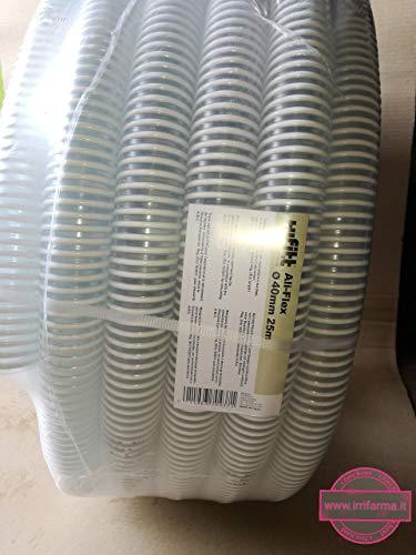 Bradas saf40 Tuyau d'aspiration/Impression Tuyau, Ali Flex, Longueur : 25 m, 7 Bar, diamètre 40 mm, Blanc, 40 x 40 x 20 cm