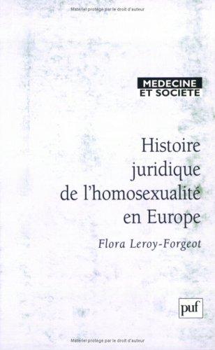 Histoire juridique de l'homosexualité en Europe