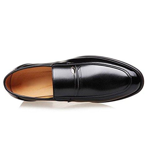 Mens Leather Foderato Slip On Dress Abiti Da Sposa Scarpe Casual Scarpe Casual Black