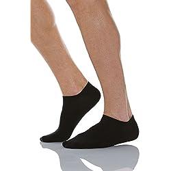 RelaxSan 560S (Negro, Tg.1) Calcetines cortos para diabéticos con tejido natural Crabyon
