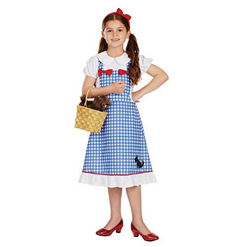 Fun Shack FNK4310S Kostüm, Girls, Dorothy Red Bows Dress, Größe (Toto Zauberer Von Oz Kostüm)