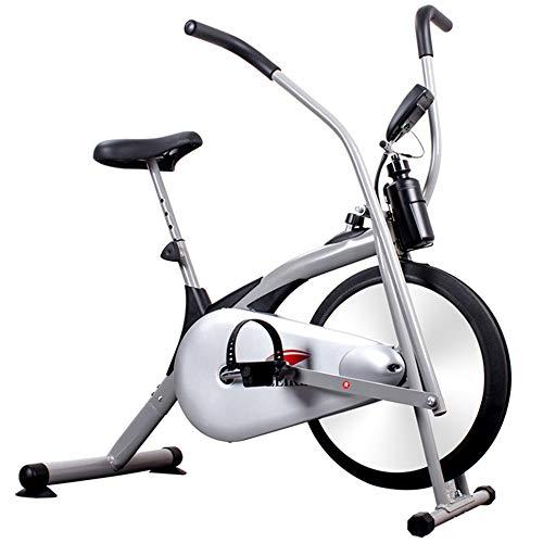Smile Aufrechtes Fahrrad-Heimtrainer mit Luftwiderstandssystem - Fitnessgerät für den Außenbereich und den Haushalt in Weiß