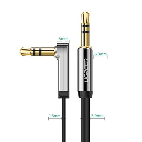 Kabel & Steckverbinder Clever Ugreen Aux Kabel Auto Handy Klinkenkabel 90 Grad Gewinkelt Audio Kabel Klinke 3,
