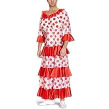 Limit Sport - Disfraz de flamenca para adultos, color rojo y negro (MA898R)