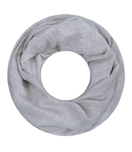 Majea NEUE Saison Damen Loop Schal viele Farben Muster Schlauchschal Halstuch in aktuellen Trendfarben (grau 2)