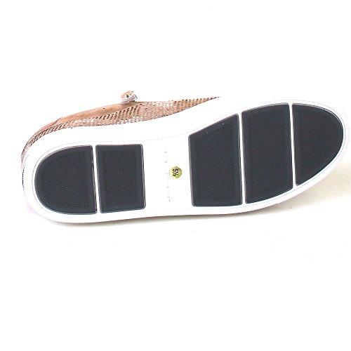 Kennel und Schmenger Damen Sneaker Town mit Reißverschluss Nieten Velour taupe Rosa (shrim/top-mix/sweiss)