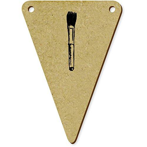 5 x 70mm 'Pinceau de Maquillage' fanions triangles en bois (BN00008051)