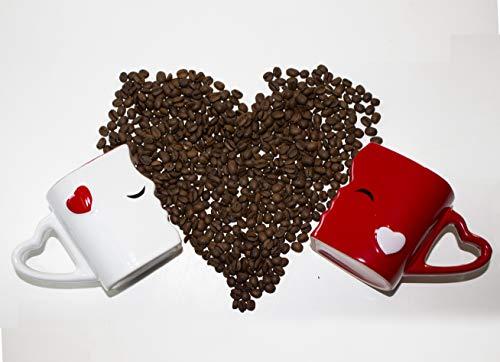 Mia ♥ Mio – Tazza da caffè/Set Bacio Tazze in Ceramica (Rosso) - 6