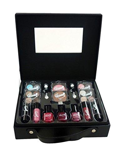 Gloss - caja de maquillaje, caja de regalo para mujeres - Caso Maquillaje - Semana de la Moda Negro - 27 piezas