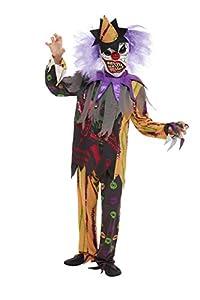 Smiffys 51074M - Disfraz de payaso aterrador para niños, multicolor, talla M, 7-9 años