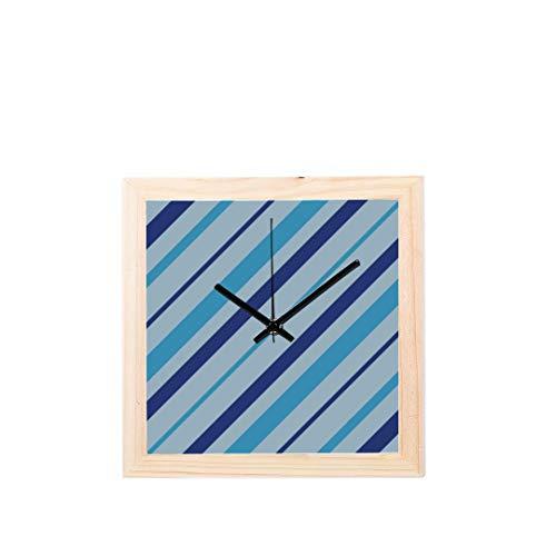Enhusk Schuluhr romantische warme diagonale Streifen Nicht tickt Platz stille Holz Diamant Display wanduhren malerei zifferblatt küche Schlafzimmer dekor wanduhr im büro -