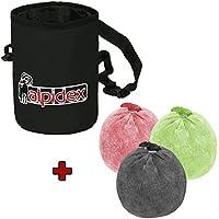 ALPIDEX Bolsa Tiza Chalk Bag + 3 x Bola Tiza 60 g Chalk Ball