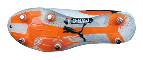 Puma , Herren Rugbyschuhe White / Black / Team Orange White / Black / Team Orange