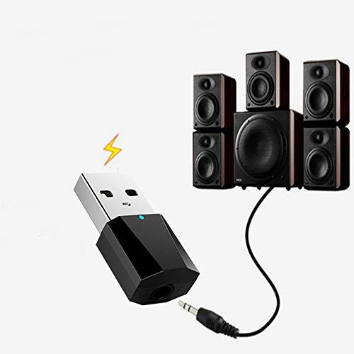 Apple Stereo-system (KOBWA USB Bluetooth Musik Empfänger 3,5 mm Stereo Audio Receiver für Tragbare Lautsprecher und Home Auto Stereo Systeme Kompatibel Android und IOS Apple)