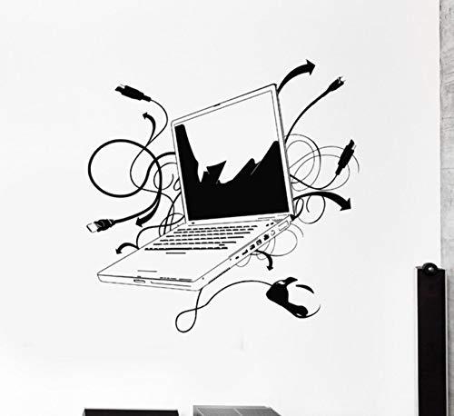 Pbldb Computer Vinyl Wandaufkleber Laptop Computer Online Internet Gamer It Spiel Zimmer Wandbild Kunst Wand Aufkleber Büro Zimmer Dekoration 57X66Cm