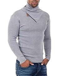 Carisma Pullover en fines mailles avec col châle en couleurs divers