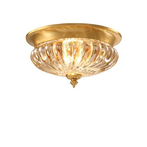 Stil Kuppel Licht (HZB Amerikanischen Stil Kuppel Licht Europäischen Ländlichen Gang Lampe Runde Voller Kupfer Sonnen Lampe Toilettenraum Lampen Und Laternen)