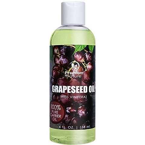 Grapeseed Oil Natural Carrier Oil - 118 ml Light &