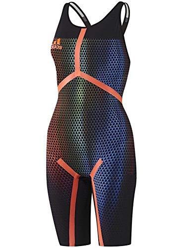 adidas Adizero XVI Freestyle Offener Rücken Tech Anzug Rennen Badeanzug Kneesuit Fina Genehmigt - Schwarz, 24UK - 28DE