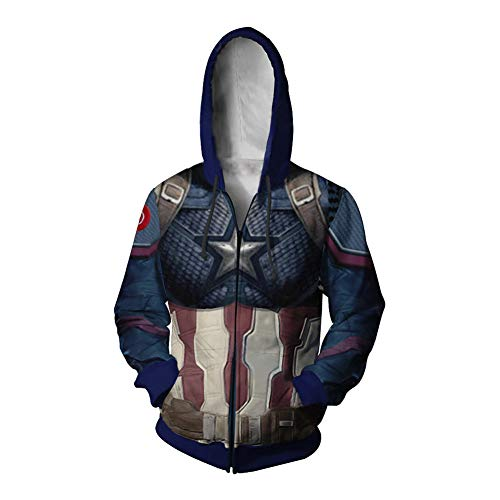 RHGZ Womens 3D Hoodie Captain 3D gedruckt Sweatshirt Cosplay Kostüm Rächer Endspiel Hoodie Super Hero Pullover (Female Super Hero Kostüm)