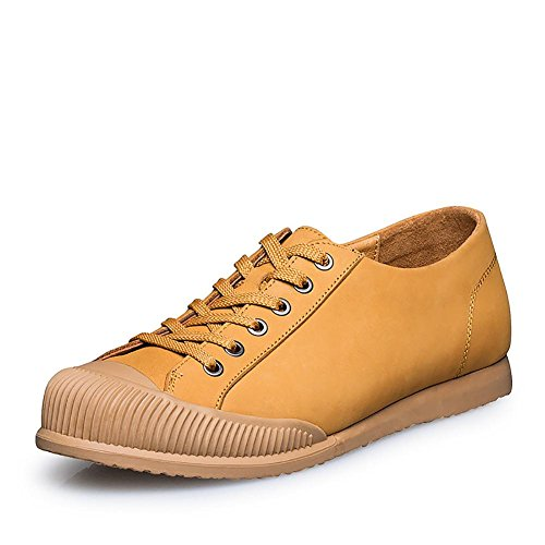 Nubukleder Männersache Klettern Outdoor-Freizeit-Fashion-Sneaker-Bootsschuh yellow brown
