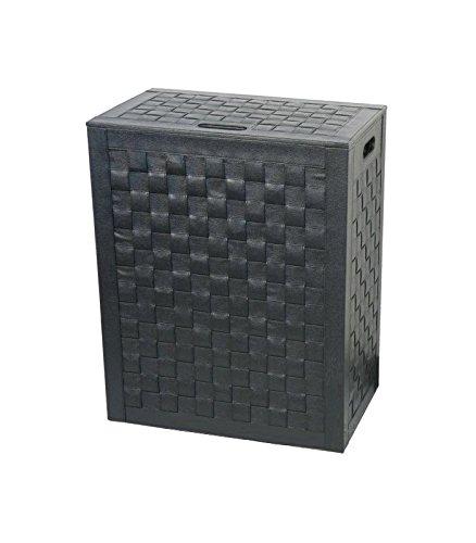 Preisvergleich Produktbild KOH Carlo Halbkugeln & C 2962bk Wäschekorb geflochten 41x 27, schwarz