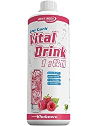 Best Body Nutrition - Low Carb Vital Drink, Himbeere, 1000 ml Flasche