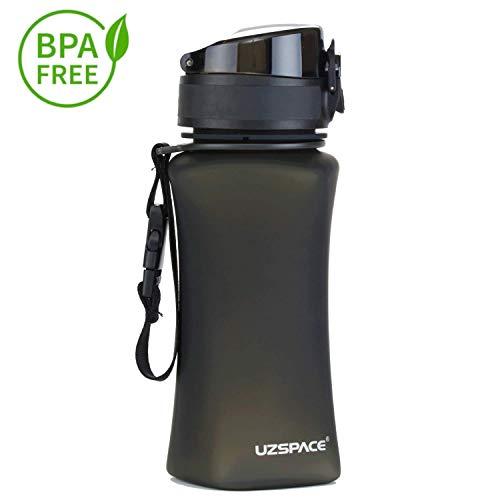 Uzspace Trinkflasche -auslaufsichere Ttitan Wasserflasche  350 ml & 500 ml & 1000 ml   BPA- Frei Sportflasche ? Uni -Schule - Fahrrad - Spaziergang - Sport