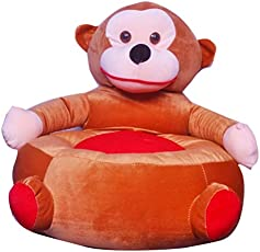 Shah Brothers Enterprises Toys Cute High Quality Soft Toy Chair | Seat for Baby Sitting | Soft Toy Chair for Kids Birthday | Love-able for Kids | Gift for Kids (Monkey Chair, 51CM)