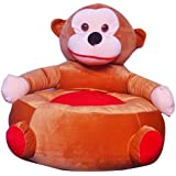 Shah Brothers Enterprises Toys Cute High Quality Soft Toy Chair | Seat For Baby Sitting | Soft Toy Chair For Kids Birthday | Love-able For Kids | Gift For Kids (Monkey Chair, 43CM)