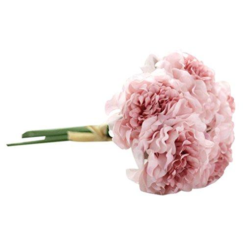 stliche Seide Blumen Pfingstrose Blumen Hochzeit Bouquet Braut Hydrangea Home Decor (B) ()