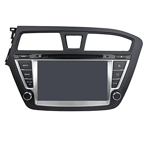 Android 8.0 Octa Core Autoradio Radio DVD GPS Navigation Multimedia-Player Auto Stereo für Hyundai I20 2014-2015 unterstützt Lenkradsteuerungs mit 3G WiFi Bluetooth frei 8G SD-Karte (Zollfrei) (Hyundai Dvd-player)