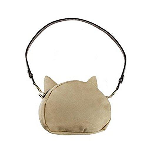 Tri-Elt 3D Katze Aufdruck Design Umhängetasche Katzenkopf Handtasche Schultasche Trage Tasche Reisetasche Henkeltasche für Damen Mädchen #1