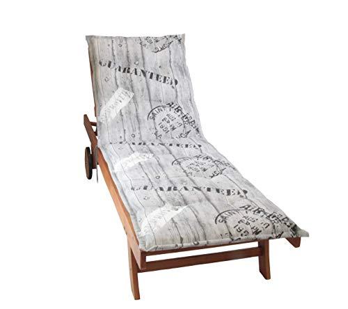 Herlag florence - cuscino per sedia a sdraio con rotelle, motivo stampato, lunghezza 190 cm, imbottitura 100% poliuretano espanso