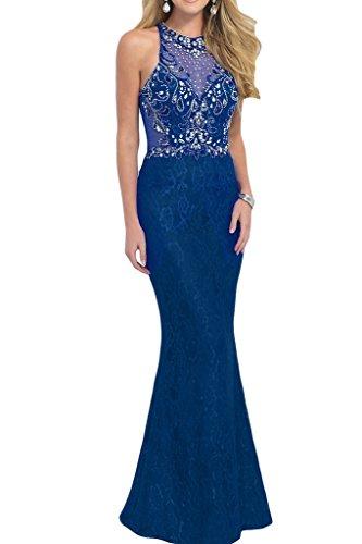 ivyd ressing robe populaire col rond pierres Étui de la ligne Lave-vaisselle Soirée Party robe robe Bleu - Bleu royal