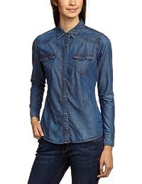 Cross Jeans Damen Bluse 70139 Hemdbluse