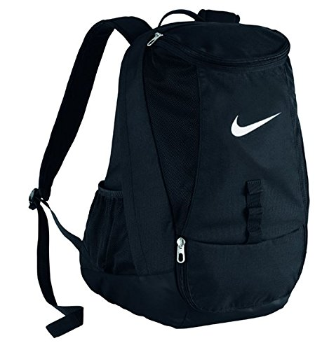 Nike Club Team Swoosh Backpack Mochila tipo casual, 45 cm, 37 liters, Negro (White)